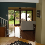 view to outside from kitchen